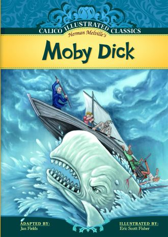 "Moby Dick bookcover, from the Abdo ""Calico Classics"" series"